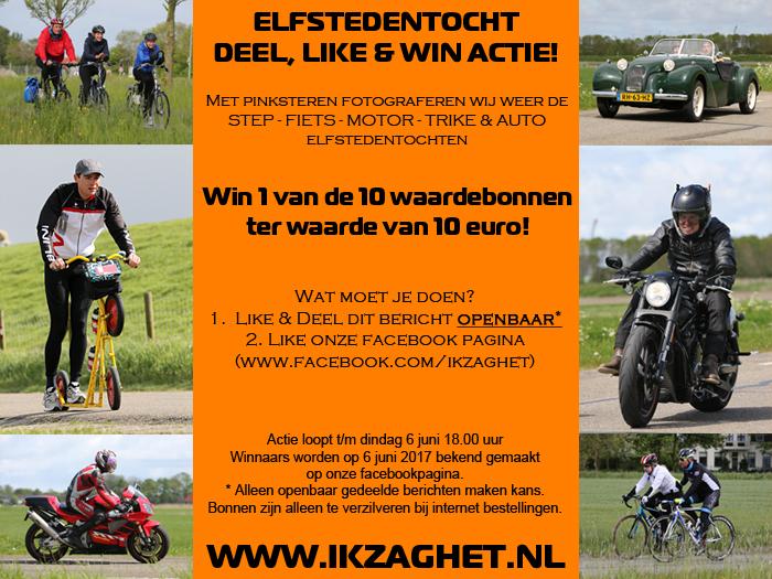 Elfstedentocht Deel, like & Win actie