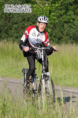 Foto: Wiebe Idsenga, reed zijn 30e tocht, arriveerde om 00.45 uur in Bolsward