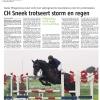 <P>Publicatie Leeuwarder Courant, 11-06-2012. Foto: Ineke Wiegersma met Willeminka tijdens CH Sneek</P>